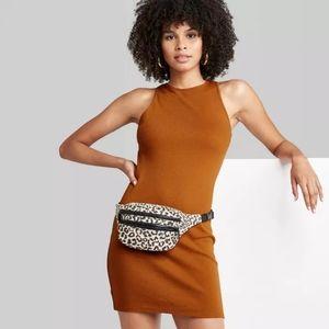 Wild Fable Burnt Orange Bodycon Dress.